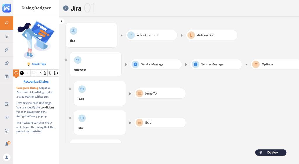 Jira dialog