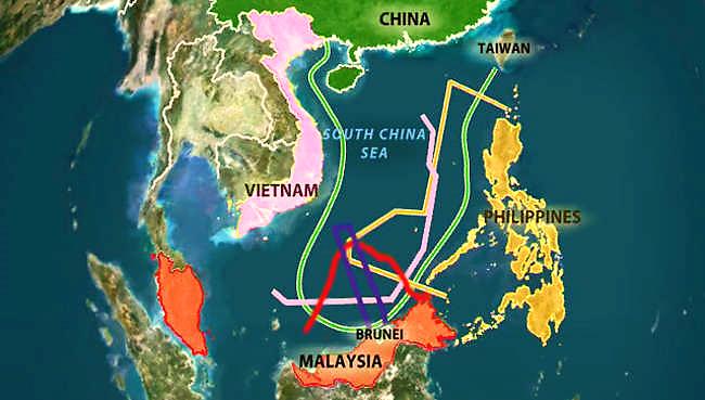 Image result for hình về tranh chấp biển đông