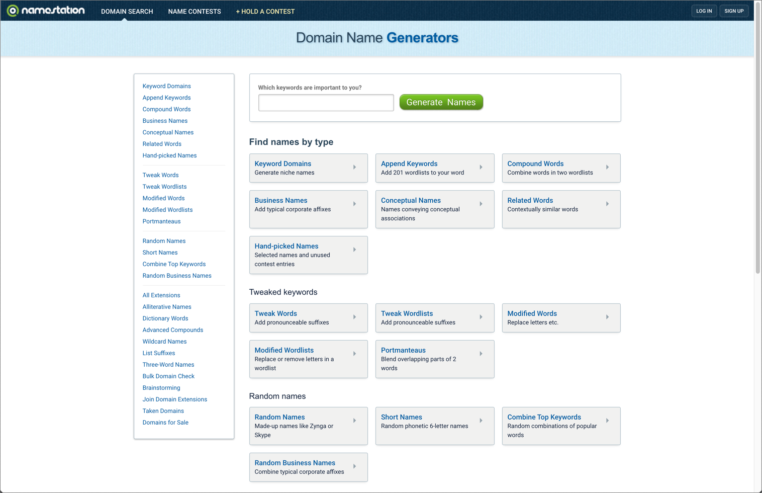 How to name your blog with NameStation