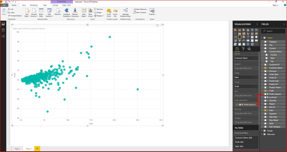 Scatter Plot Chart in Microsoft Power BI 34