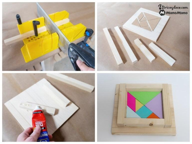 build the base of your Montessori tangram puzzle