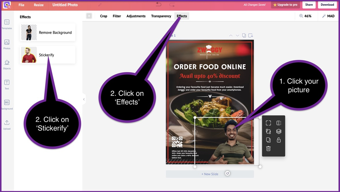 How to create a business flyer - step 7 -screenshot 4