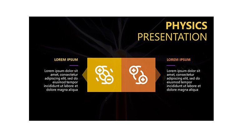 physics science powerpoint template for teaching