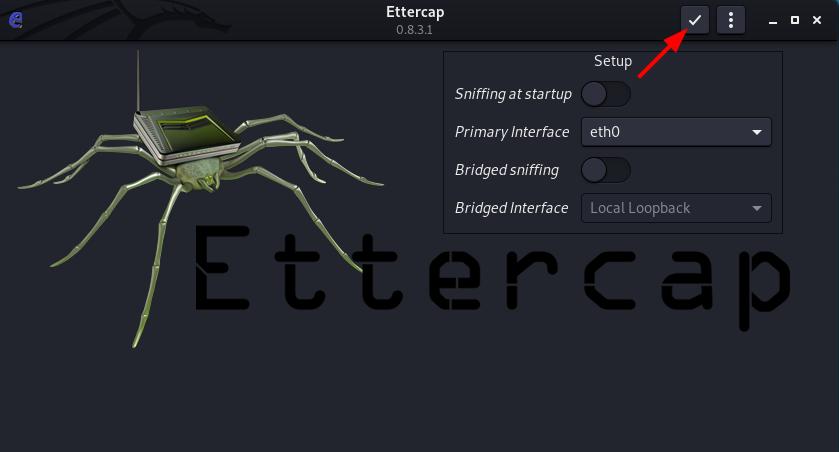 MITM Ettercap ARP Poisoning - Ettercap Accept settings. Source: nudesystems.com