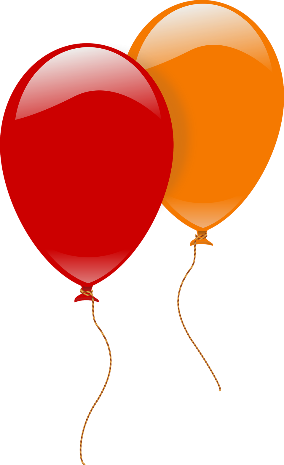 Balloons | Free Stock Photo | Illustration of a red and an orange ...