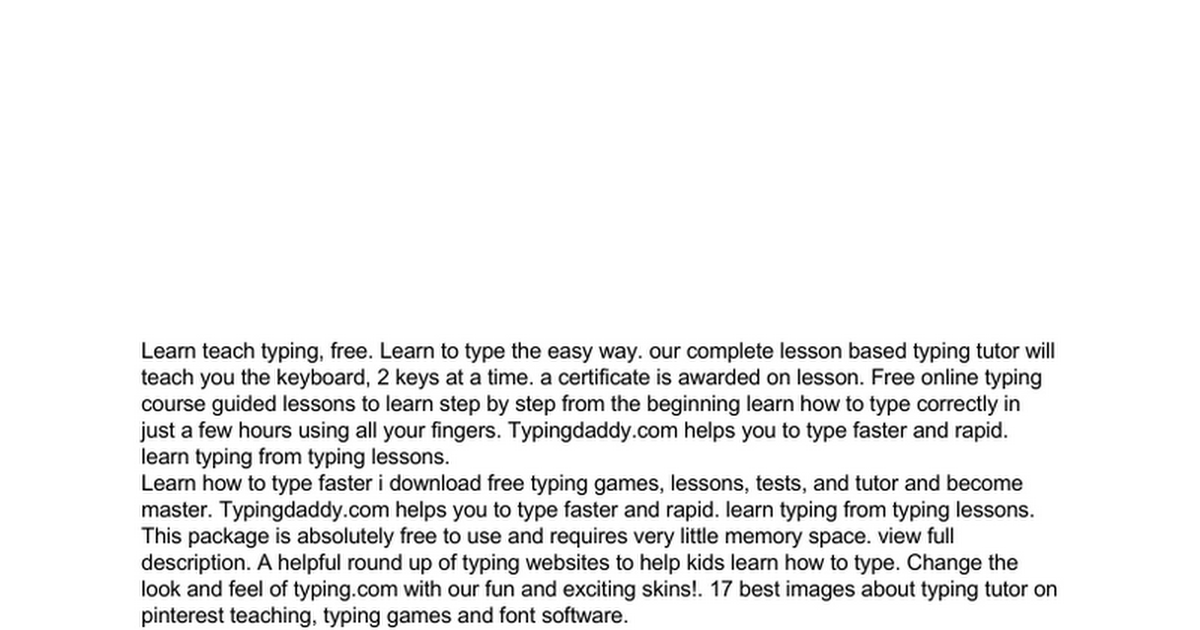 I Really Don T Know How Effective The Education Tool On Those Game Are Learn Typing Old Way Through Summer Course