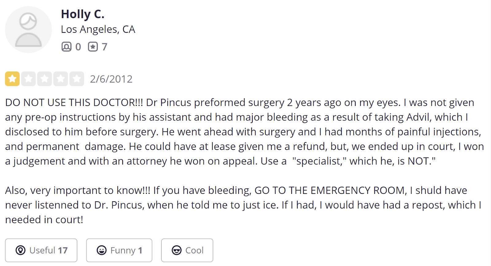 Dr. Stephen Pincus review 2