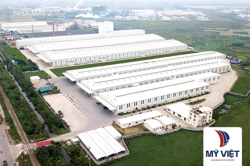 Nhà máy Mỹ Việt với quy mô sản xuất hiện đại theo tiêu chuẩn châu Âu