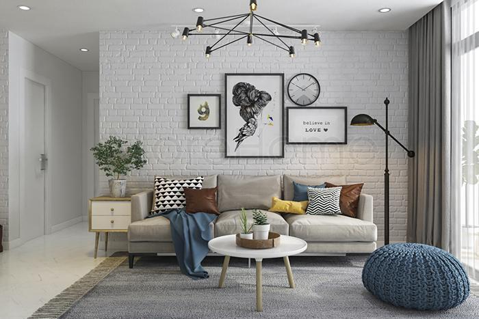 Trang trí họa tiết trên tường sẽ là sự lựa chọn hoàn hảo cho những không gian hẹp