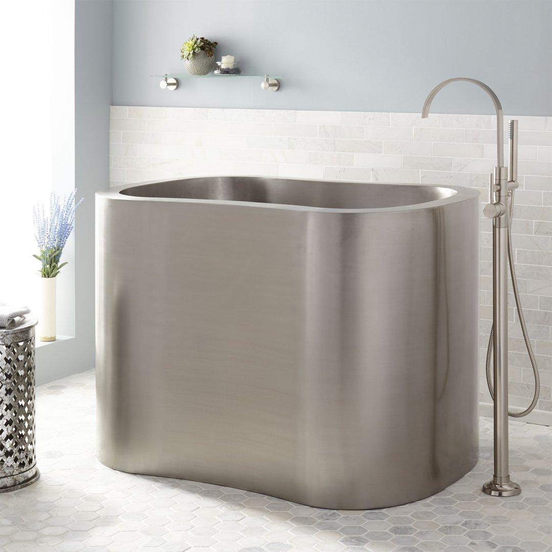 stainless steel japanese soaking tub