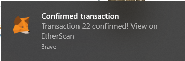 confirmed transaction