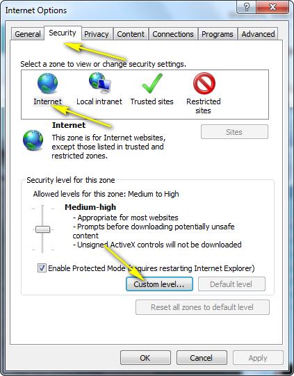 How do I configure Internet Explorer® to allow ActiveX