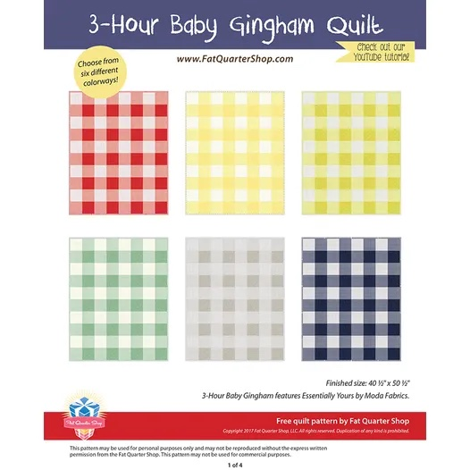 15. 3 Hour Baby Gingham Pattern