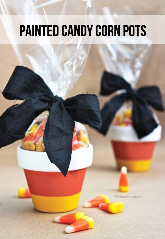 Candy Corn Pots: These 30 DIY Halloween Decorations That Are Wickedly Creative will save you money and allow your creativity to flourish