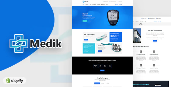 Shopify medical themes Medik