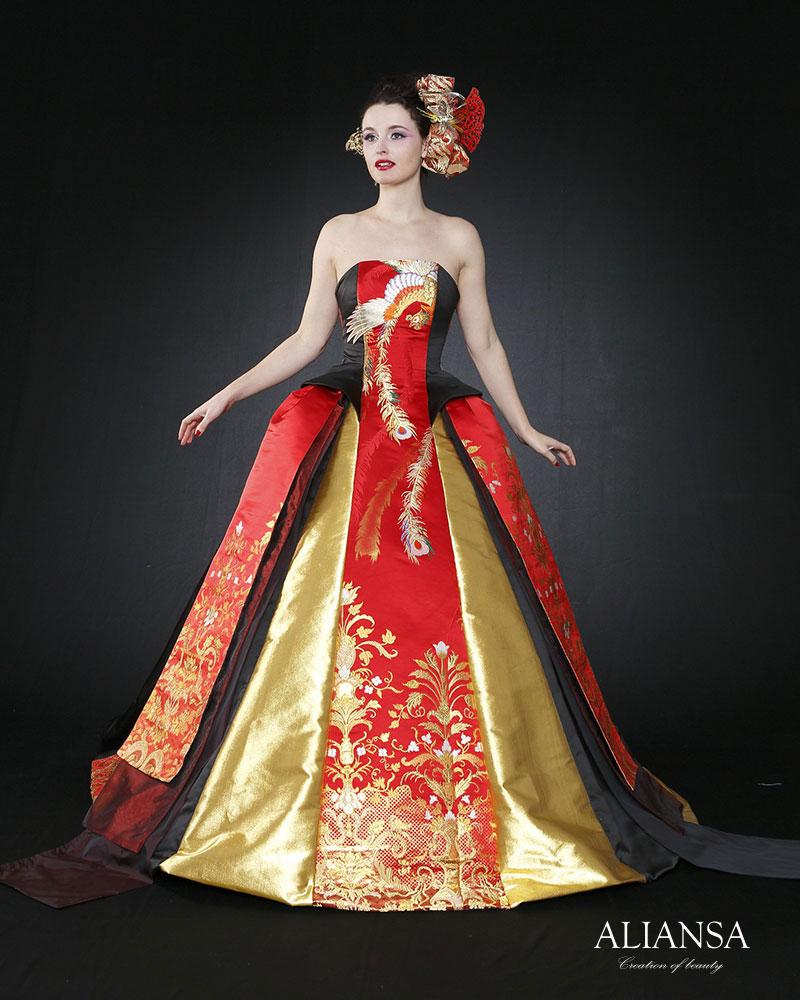 40代が似合うウェディングドレス プリンセスライン