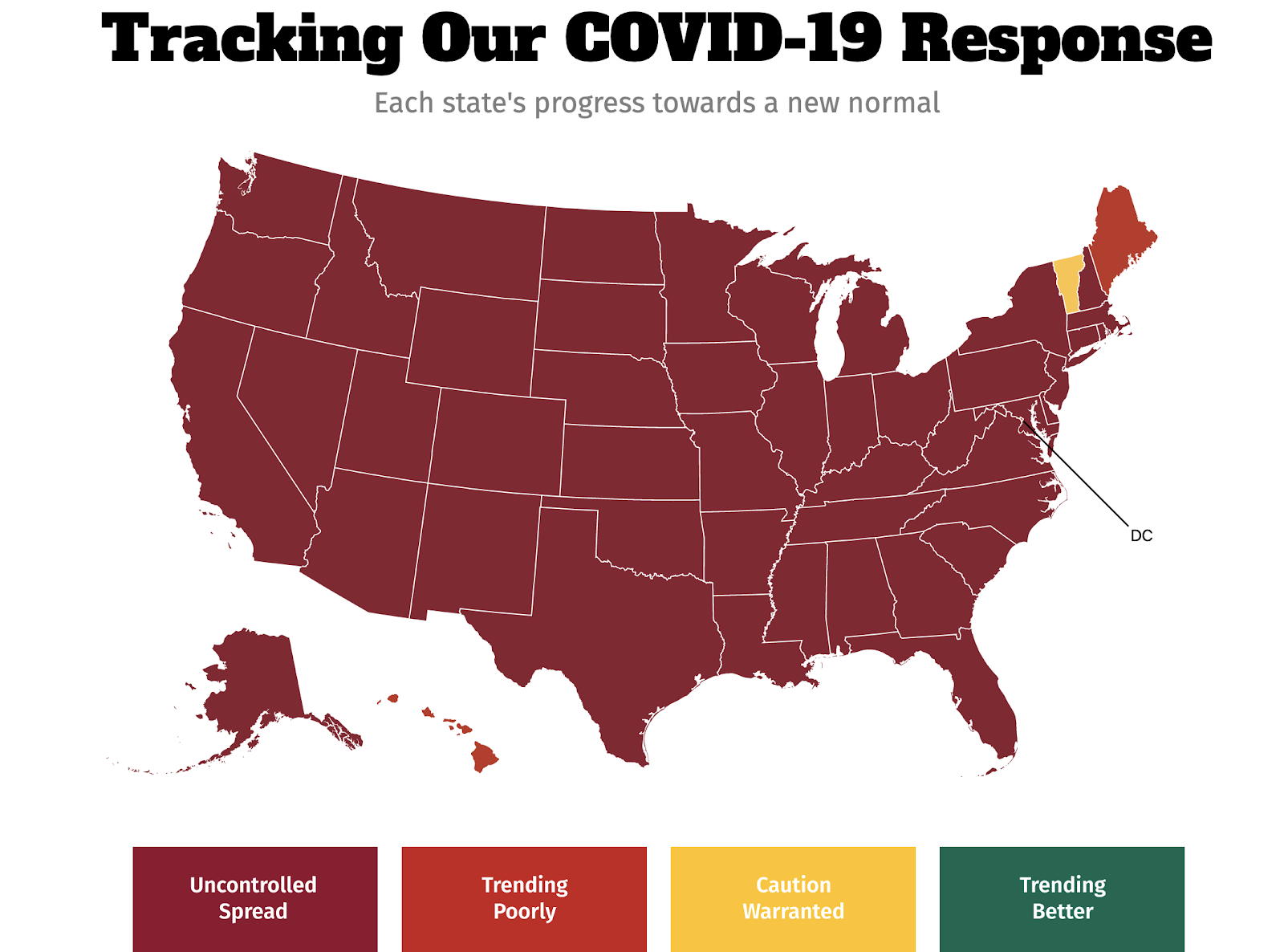 Map of the COVID pandemic and how its getting worse.