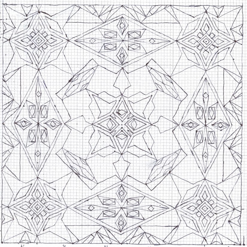 graph paper uncolored design