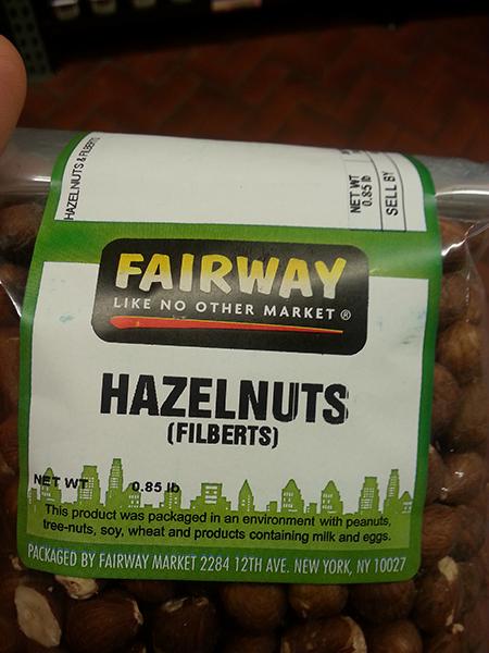 """Fairway """"Like no other Market"""" Hazelnuts (Filberts), Net Wt. 0.85 lb"""