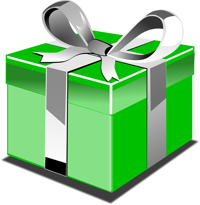 Free vector graphic: Present, Gift, Green, Bow, Silver - Free ...