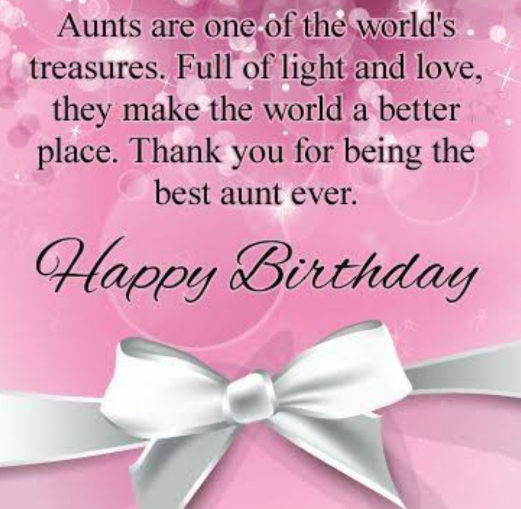 Happy Birthday Images-To the best aunty ever!