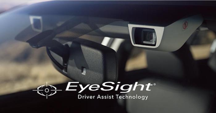 ระบบ EyeSight จะประมวลผลผ่านกล้องทั้งสองด้านหน้ารถ