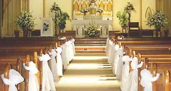 wedding decorations for church chairs free wedding projects tulle pew bows simple how to 9107