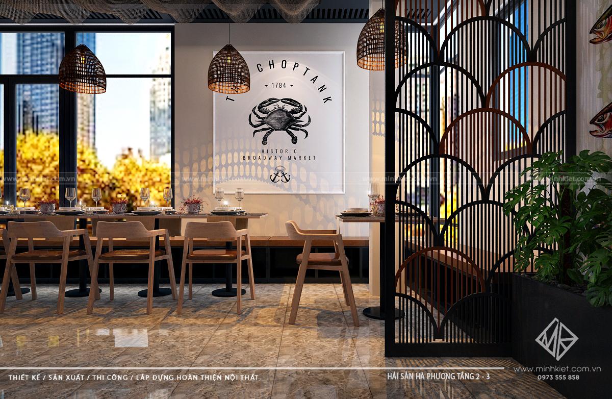 Chi phí thiết kế nhà hàng đẹptừ 300tr - 500tr