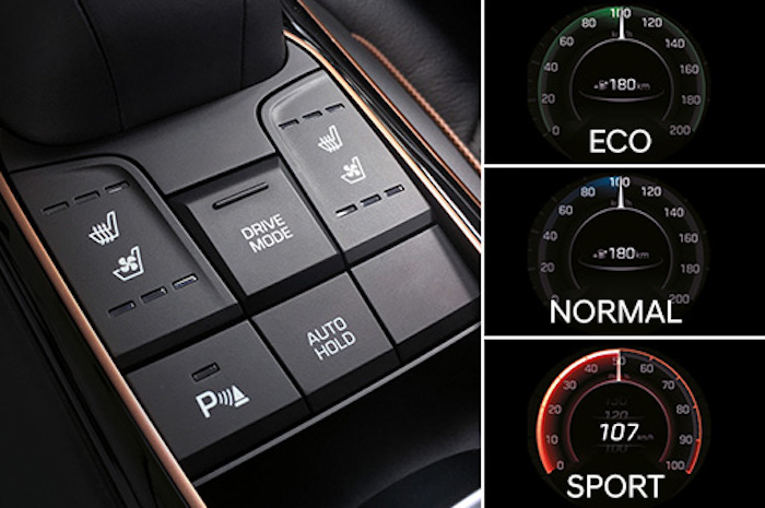 Hyundai Ioniq สามารถปรับเปลี่ยนโหมดในการขับขี่ได้ถึง 3 รูปแปป