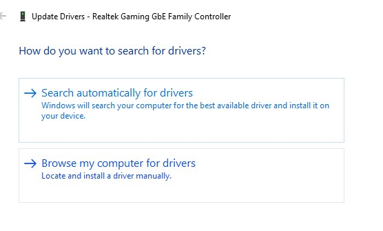 Automatically look for updated driver software