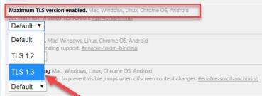 maximum allowed TLS version