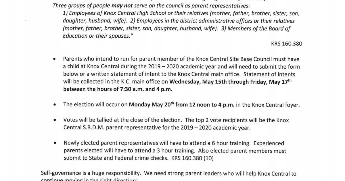 Knox Central Parent SBDM Elections 2019.pdf