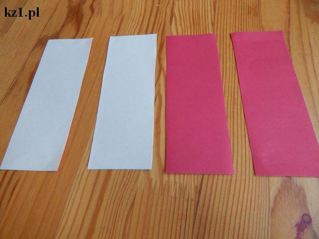 kartka pocięta na cztery paski