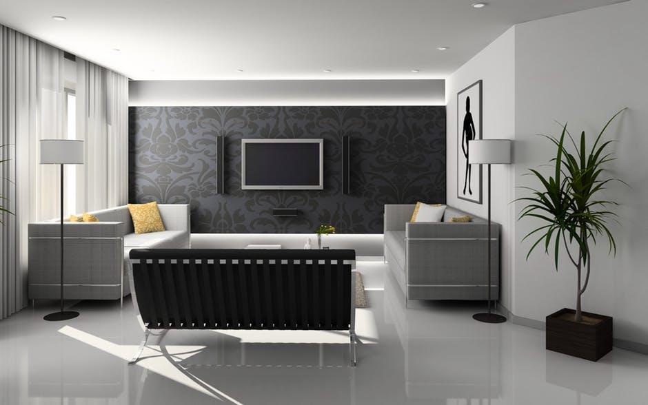 apartment, chair, clean