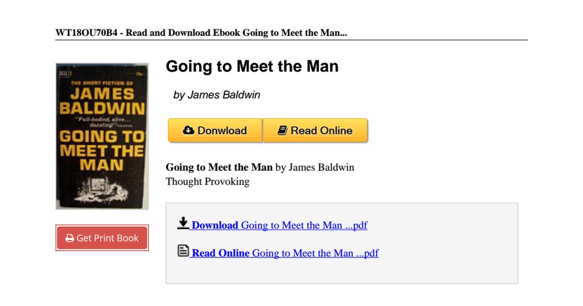 james baldwin going to meet the man full text