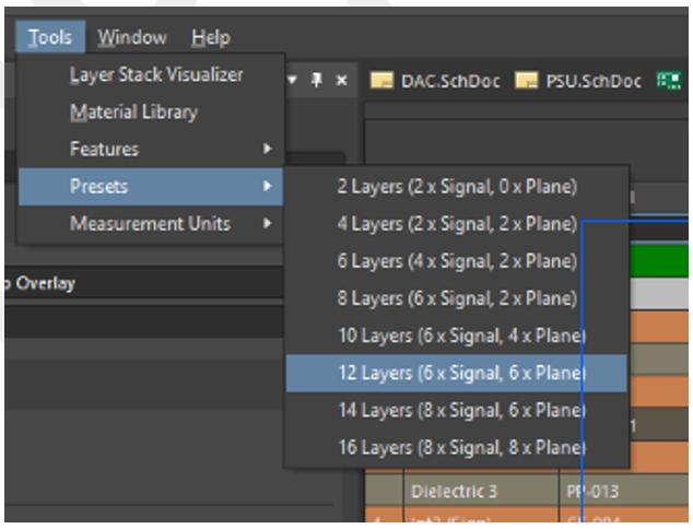 Planen und erstellen Sie PCB-Stackups in Altium Designer.