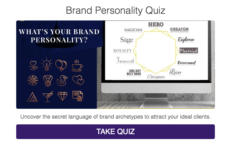 brand personality quiz with archetypes