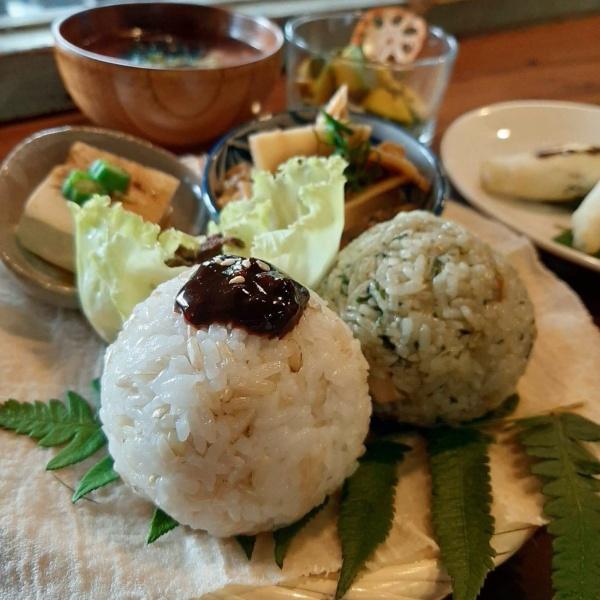 宜蘭蔬食餐廳-一簞食-深溝村飯糰套餐