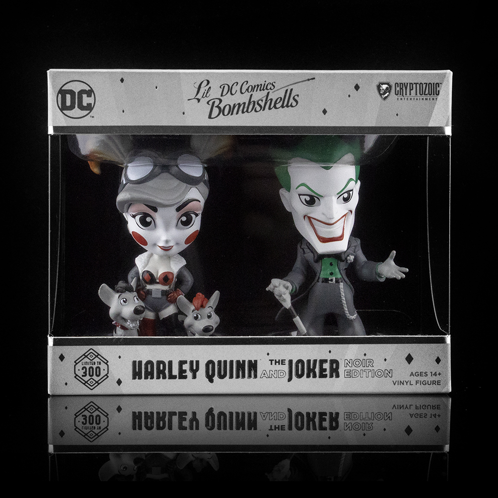 Harley Quinn and The Joker Noir Edition DC Lil Bombshells Vinyl Figures (Cryptozoic Con II Exclusive)