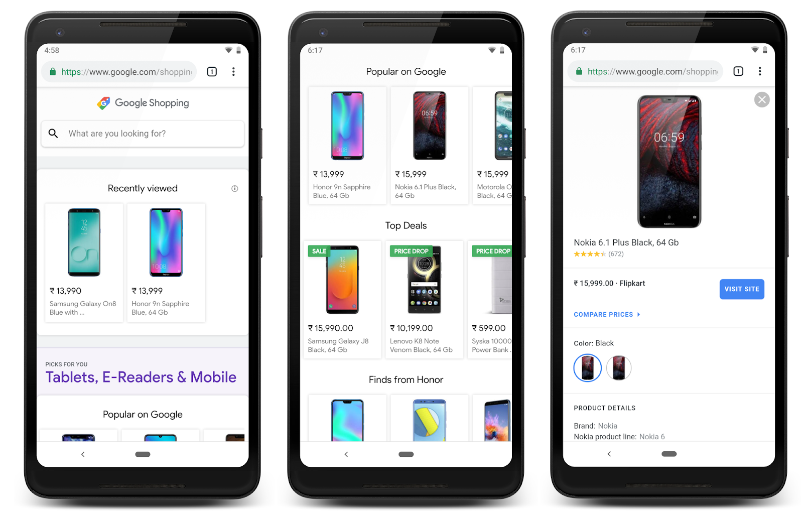 Techmeme: Google launches new Shopping search features in India with