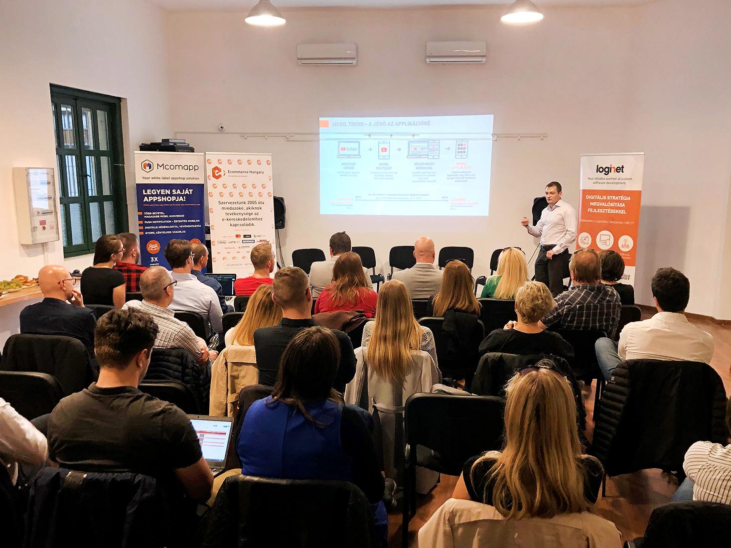 Az Ecommerce Hungary és a LogiNet közös Meetupja a mobilértékesítés lehetőségeiről