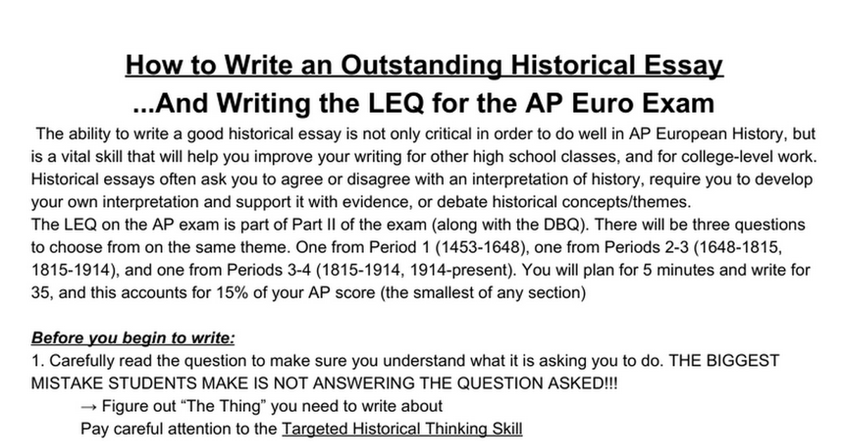as level essay history Essay writing in higher history is very important overall, 70% of your grade will be ascertained from the essays you write, 30% from your extended essay and 40% from your 2 essays in paper 1 of the final examination as you have advanced through the school in standard grade and intermediate 2 you.