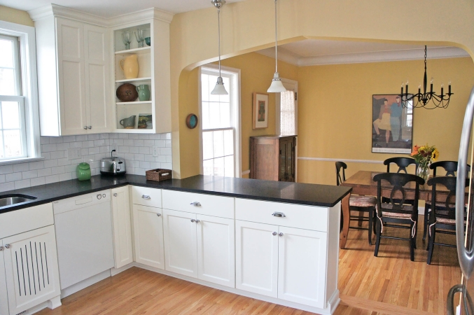 kitchen remodel with bump-out addition to create more space