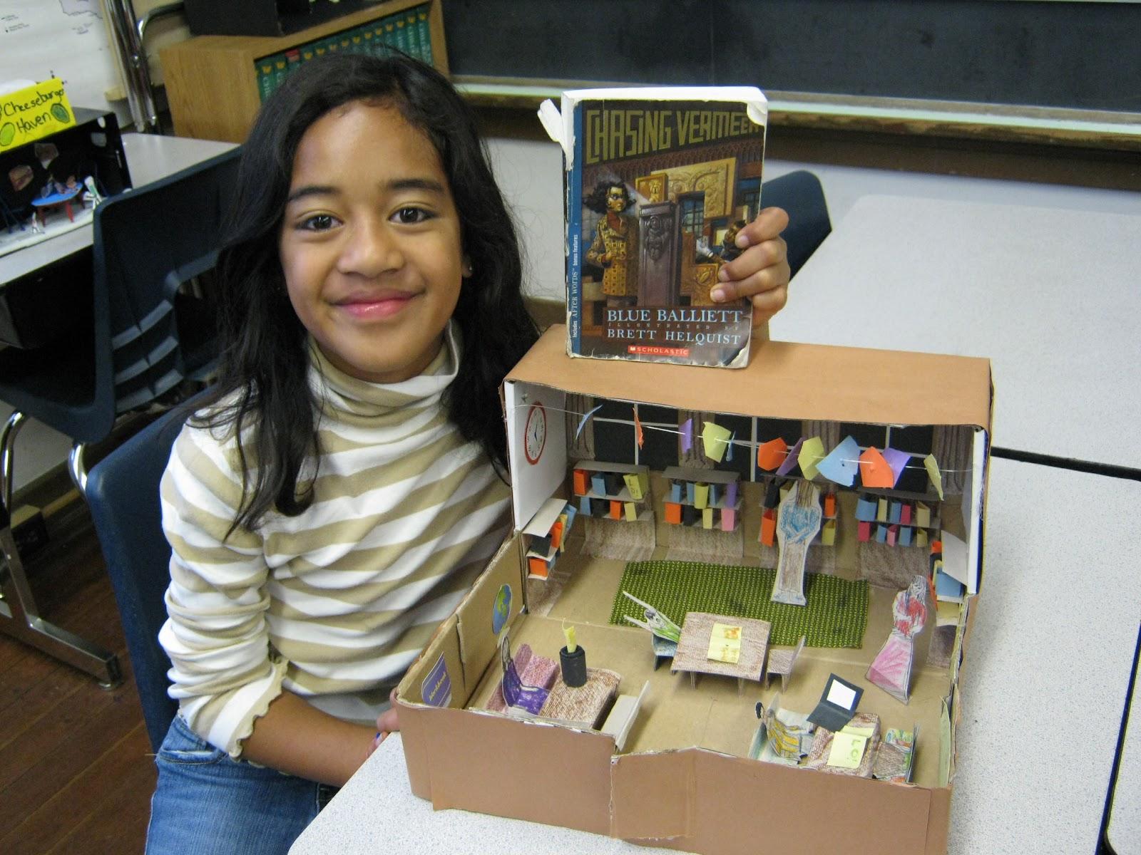 Scrapbook book report ideas - Diorama Book Report Jpg