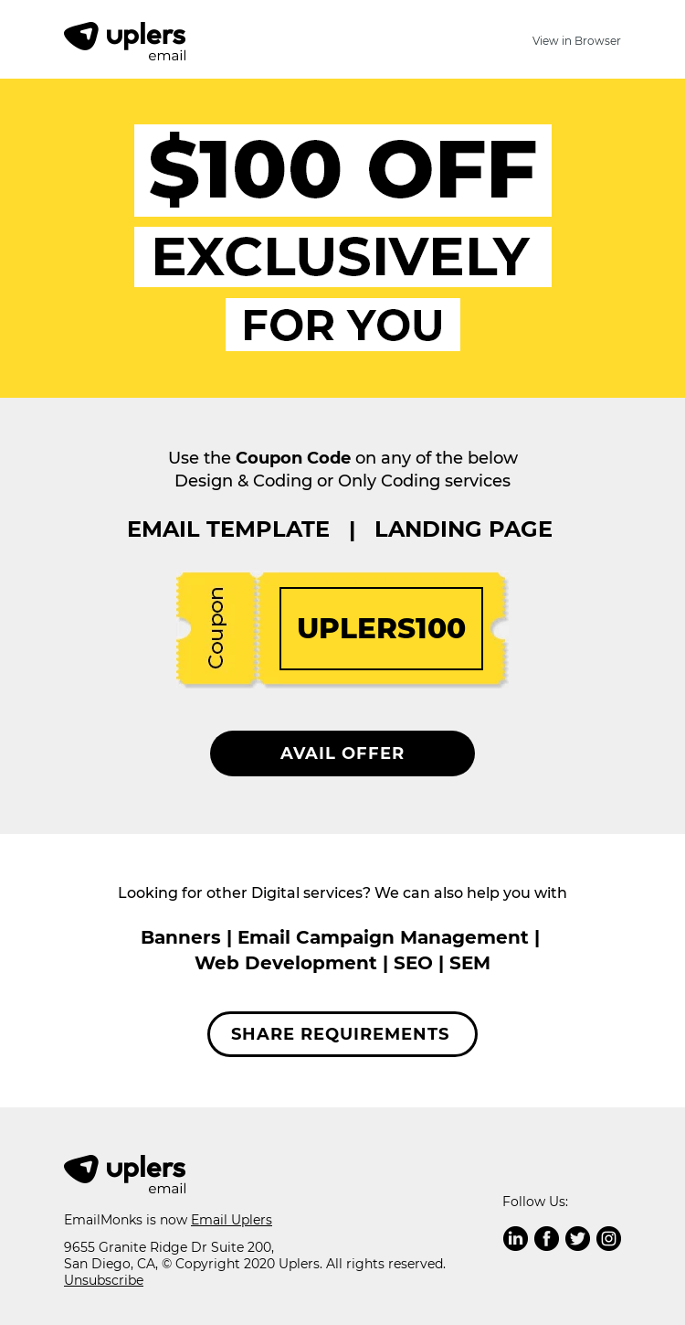promotion email template