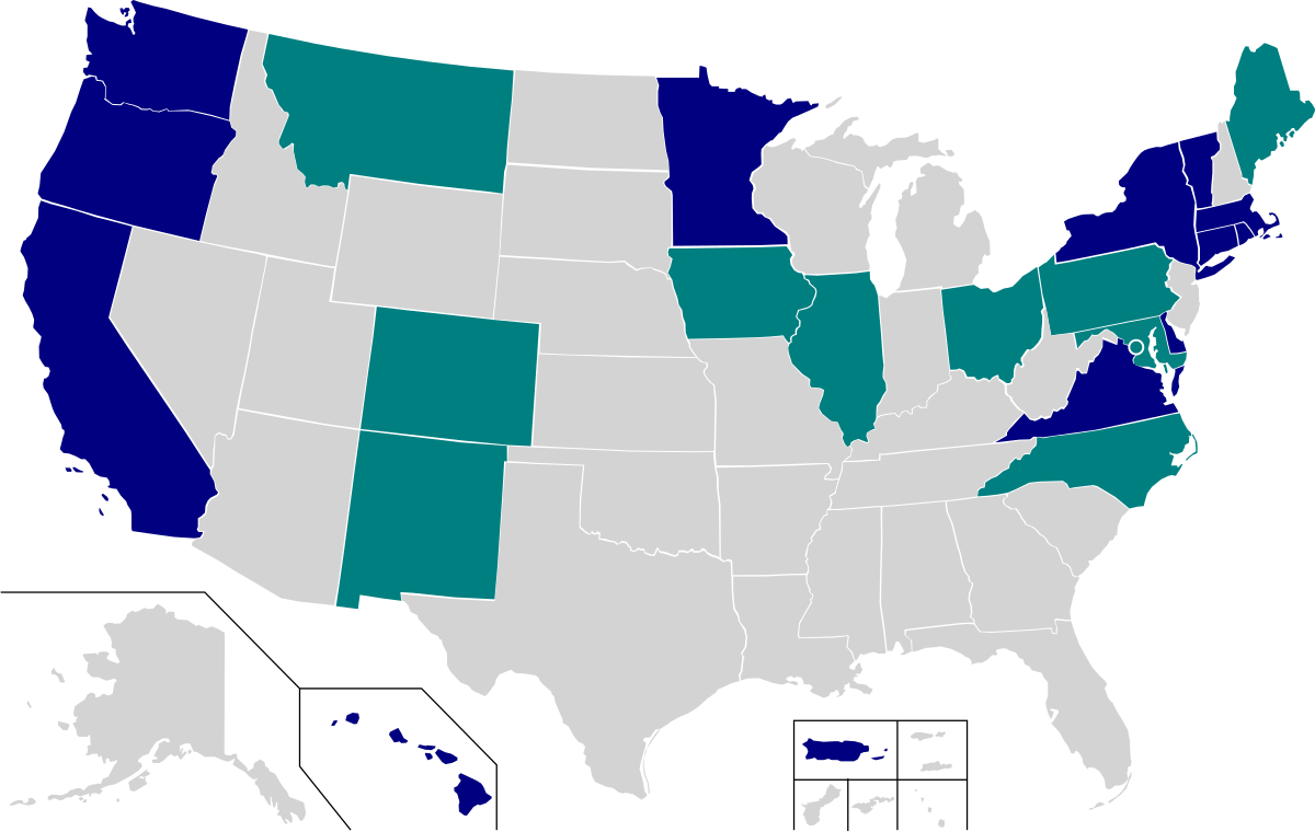 U.S Climate Alliance and Support for Paris Climate Accord Map.png