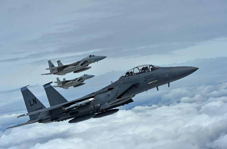 F-15's flying image