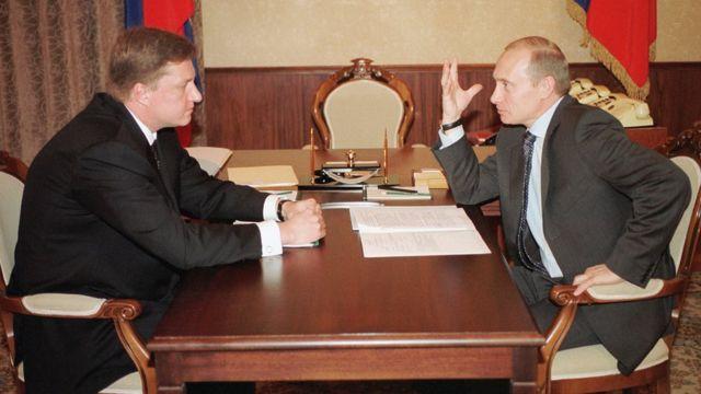 Владимир Чернухин с Владимиром Путиным