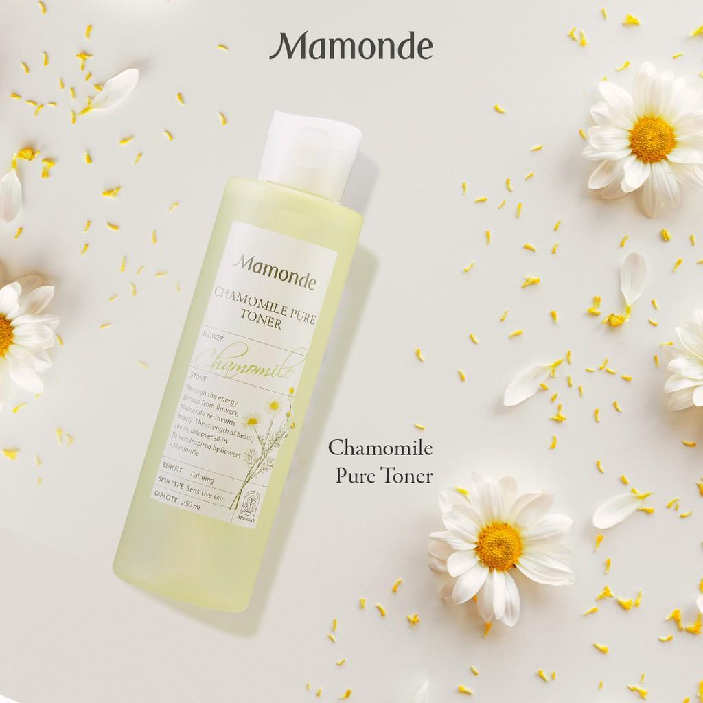 Toner cho da dầu mụn Mamonde Chamomile Pure Toner được chiết xuất từ cúc La Mã
