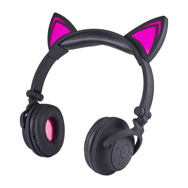 light-up cat earphones